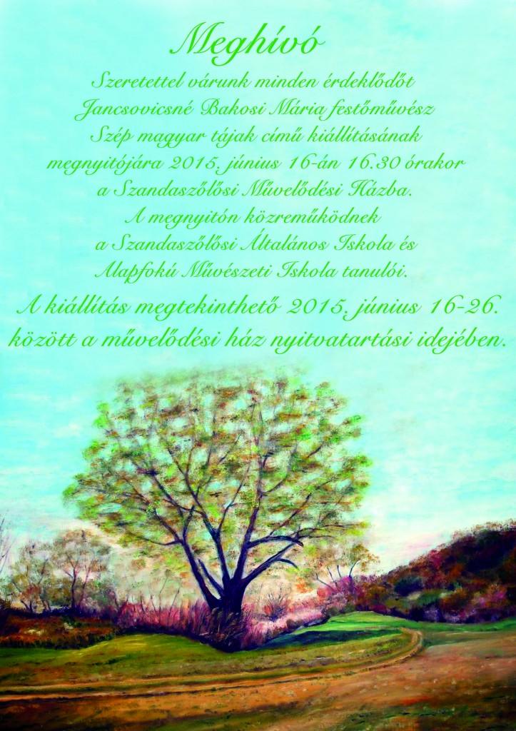 Bakosi Mária kiállítás plakát