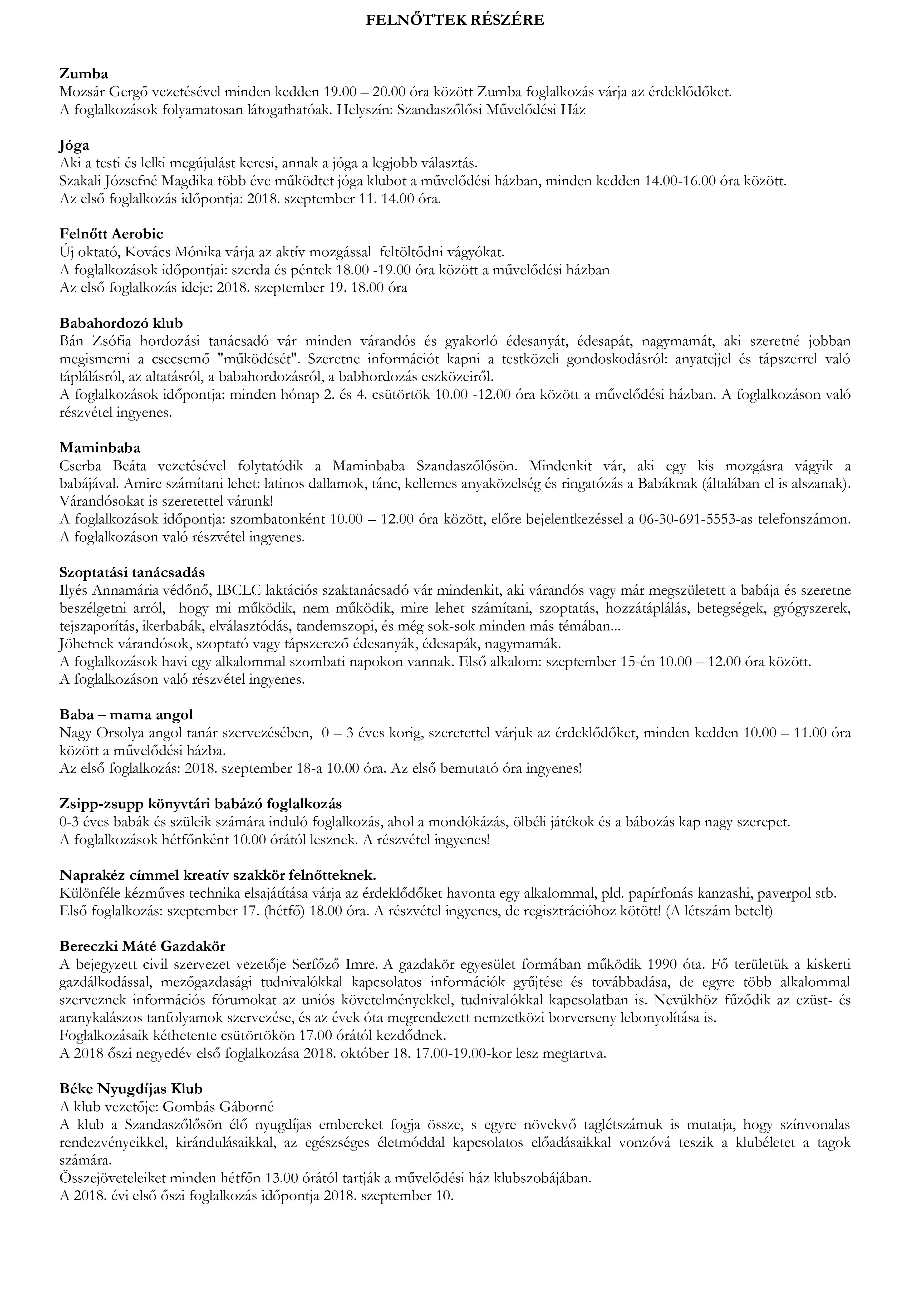 Felnőtt foglalkozás 1. oldal